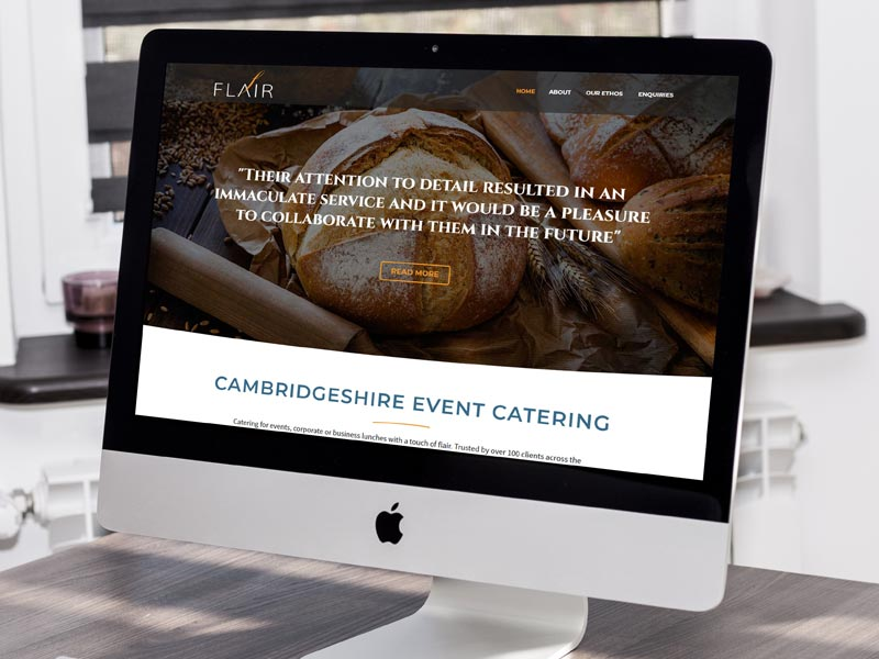Responsive website for Flair Catering in Cambridge