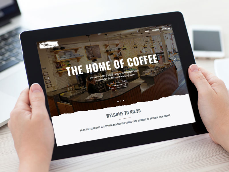 Website for No.30 Coffee Lounge